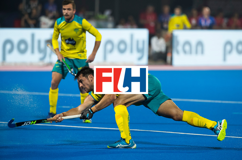 BHUBANESWAR - Jeremy Hayward (Aus) .   Hockey World League finals , Quarter Finals . Spanje-Australie (1-4)  COPYRIGHT KOEN SUYK