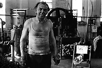Alan Hughes, Shacklemaker at Barzillai Hingley Chainmaking Cradley Heath in the Black Country West Midlands  1977