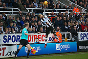 Newcastle United defender DeAndre Yedlin (22) can't keep the ball in during the EFL Sky Bet Championship match between Newcastle United and Aston Villa at St. James's Park, Newcastle, England on 20 February 2017. Photo by Simon Davies.