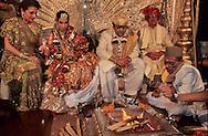 wedding of the Mafatlal, Indians billionaires. hindu religious ceremony at the taj Mahal hotel  Bombay Mumbay  India     /// Mariage des Mafatlal, milliardaires indiens, ceremonie religieuse hindou au Taj Mahal hotel  Bombay Mumbay  Inde   /// R00003/    L005363  /  R02005  /  P121201