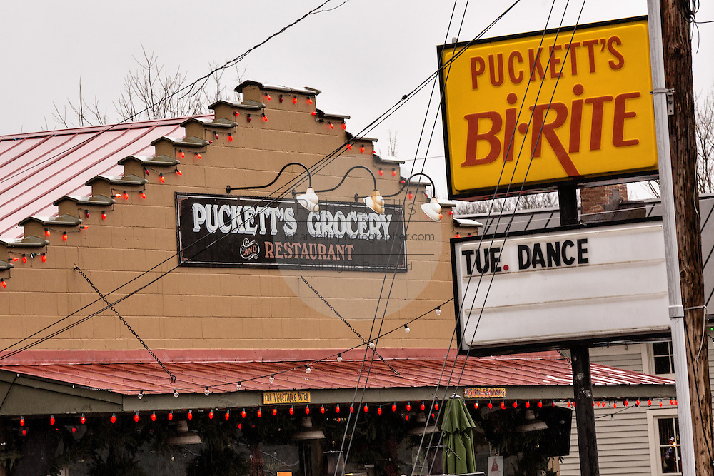 Puckett's Grocery & Restaurant in Leipers Fork, Tennessee.
