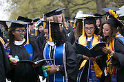 "Graduating seniors sing ""The Genesee,"" the University's Alma Mater, at the University of Rochester's Commencement ceremony in Rochester on Sunday, May 15, 2016."