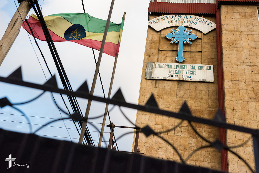 Exterior photograph of the Ethiopian Evangelical Church Mekane Yesus central office in Addis Ababa, Ethiopia, on Thursday, Nov. 13, 2014. LCMS Communications/Erik M. Lunsford