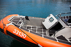 Coast Guard Boat Forces in the US Virgin Islands unveil two of the four 33-Special Purpose Craft Law-Enforcement (SPC-LEs) Boats that will be stationed in St. Thomas.   The SPC-LE's are specially built for counter-drug and migrant missions while patroling the border.  © Aisha-Zakiya Boyd