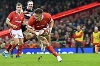 Rugby Union - 2019 / 2020 season - Wales vs. Barbarians<br /> <br /> Josh Adams of Wales  counter attacks , at The Principality (Millennium) Stadium.<br /> <br /> COLORSPORT/WINSTON BYNORTH