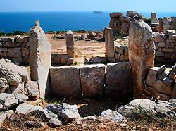 MALTA ZURRIEQ 23JUL06 - Neolithic temple complex Mnajdra near the town of Zurrieq. The Maltese prehistoric temples are the oldest freestanding stone structures ever discovered, dating back as far as 3600 BC...jre/Photo by Jiri Rezac..© Jiri Rezac 2006..Contact: +44 (0) 7050 110 417.Mobile:  +44 (0) 7801 337 683.Office:  +44 (0) 20 8968 9635..Email:   jiri@jirirezac.com.Web:    www.jirirezac.com