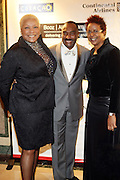 l to r: Audrey Smalls, Reggie Van Lee and Harriett Cole at The Fifth Annual Grace in Winter Gala honoring Susan Taylor, Kephra Burns, Noel Hankin and Moet Hennessey USA and benfiting The Evidence Dance Company held at The Plaza Hotel on February 3, 2009 in New York City.