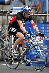 Matt Dicanio, a professional cyclist who previously admitted to doping, races for an anti-doping squad in  the 2006 Tour of Shenandoah Cycling race, Stage 2, Staunton Virginia, April 25, 2006.