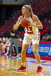 NORMAL, IL - October 30: Hannah Kelle during a college women's basketball game between the ISU Redbirds and the Lions on October 30 2019 at Redbird Arena in Normal, IL. (Photo by Alan Look)