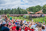 Henham Park, Suffolk, 21 July 2019. Dance as part of the BBC young dancer competition on the waterfront stage in front of a large crowd. The 2019 Latitude Festival.
