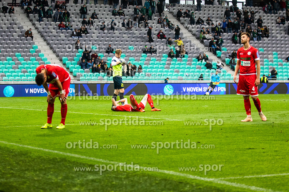 NK Aluminij after  football match between NK Olimpija Ljubljana and NK Aluminij in Round #27 of Prva liga Telekom Slovenije 2018/19, on April 14th, 2019 in Stadium Stozice, Slovenia Photo by Matic Ritonja / Sportida