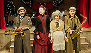 Mrs Hudson's Christmas Corker<br /> by Barry Cryer and Bob Cryer <br /> in association with Spymonkey <br /> at Wilton's Music Hall , London, Great Britain <br /> 28th November 2014 <br /> Press photocall<br /> <br /> Toby Park <br /> Aitor Basauri<br /> Petra Massey <br /> Sophie Russell <br />  <br /> Photograph by Elliott Franks <br /> Image licensed to Elliott Franks Photography Services