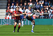Toby Alderweireld (4) of Tottenham Hotspur under pressure from Ryan Fraser (24) of AFC Bournemouth during the Premier League match between Bournemouth and Tottenham Hotspur at the Vitality Stadium, Bournemouth, England on 4 May 2019.