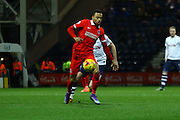Charlton Athletic midfielder Jordan Cousins during the Sky Bet Championship match between Preston North End and Charlton Athletic at Deepdale, Preston, England on 23 February 2016. Photo by Pete Burns.