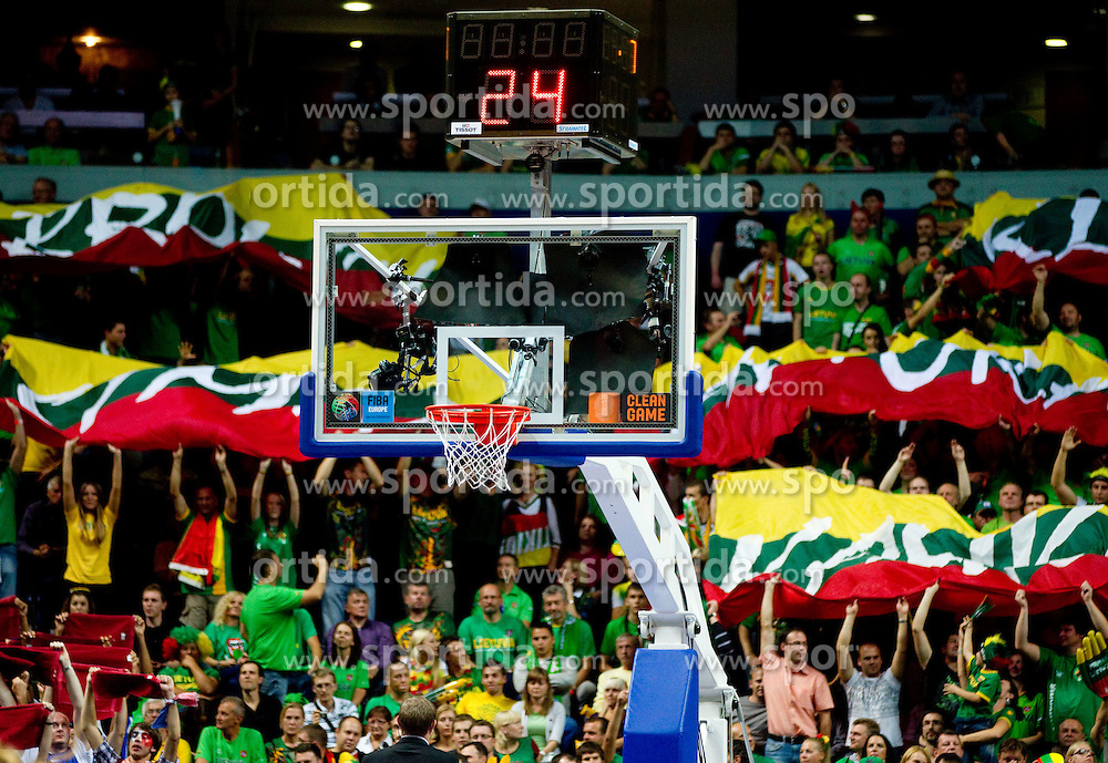 Lans of Lithuania during basketball game between National basketball teams of Lithuania and France at FIBA Europe Eurobasket Lithuania 2011, on September 9, 2011, in Siemens Arena,  Vilnius, Lithuania.  (Photo by Vid Ponikvar / Sportida)