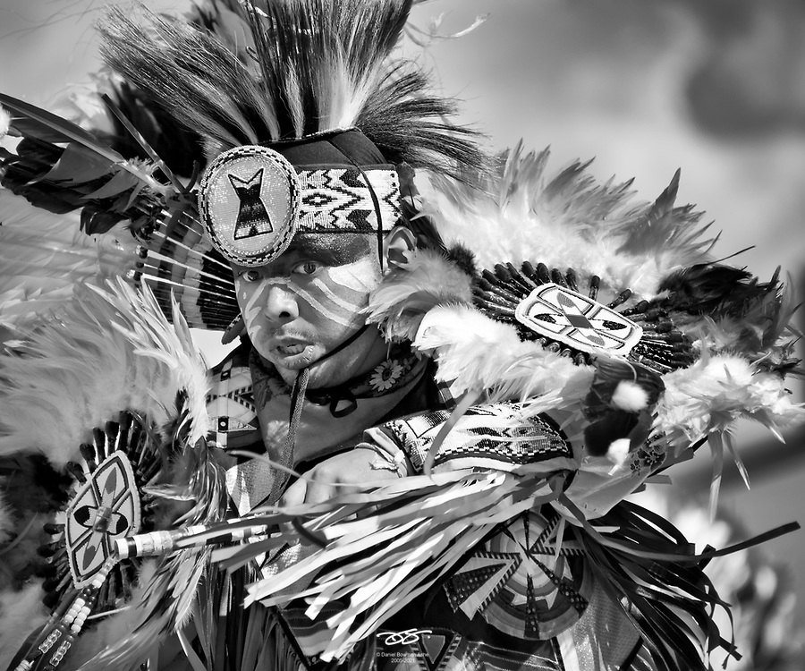 Ceremonial dancer competes at tribal Pow Wow event, Grand Prairie, TX Native American dancer, Texas