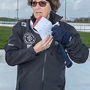 NLD/Biddinghuizen//20170305 - De Hollandse 100 - Stichting Lymph & Co 2017, Prinses Margriet aan het schaatsen