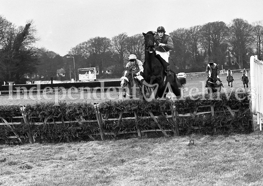Leopardstown Races, Leopardstown, Dublin, circa March 1986 (Part of the Independent Newspapers Ireland/NLI Collection).