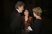 Tom Stoppard, Miriam Stoppard and Jenny Cate, The Blush Ball, Natural History Museum, London<br />Breast Cancer Haven trust charity evening for the construction of a third Haven in North England. ONE TIME USE ONLY - DO NOT ARCHIVE  © Copyright Photograph by Dafydd Jones 66 Stockwell Park Rd. London SW9 0DA Tel 020 7733 0108 www.dafjones.com