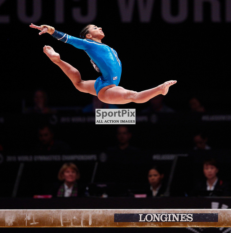2015 Artistic Gymnastics World Championships being held in Glasgow from 23rd October to 1st November 2015.....Seda Tutkhalian (Russia) performs on the Balance Beam in the Women's All-Round Final...(c) STEPHEN LAWSON | SportPix.org.uk