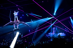 Travis Scott on stage during the MTV Europe Music Awards 2017 held at The SSE Arena, London. Photo credit should read: Doug Peters/EMPICS Entertainment