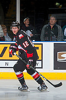 KELOWNA, CANADA - FEBRUARY 18:Jansen Harkins #12 of the Prince George Cougars warms up against the Kelowna Rockets on February 18, 2017 at Prospera Place in Kelowna, British Columbia, Canada.  (Photo by Marissa Baecker/Shoot the Breeze)  *** Local Caption ***