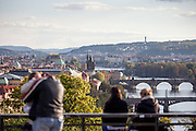 View from Letna Park to Charles Bridge.