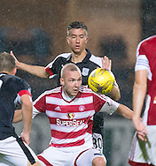 Hamilton&rsquo;s Ali Crawford and Dundee&rsquo;s Cammy Kerr - Dundee v Hamilton Academical in the Ladbrokes Scottish Premiership at Dens Park<br /> <br />  - &copy; David Young - www.davidyoungphoto.co.uk - email: davidyoungphoto@gmail.com