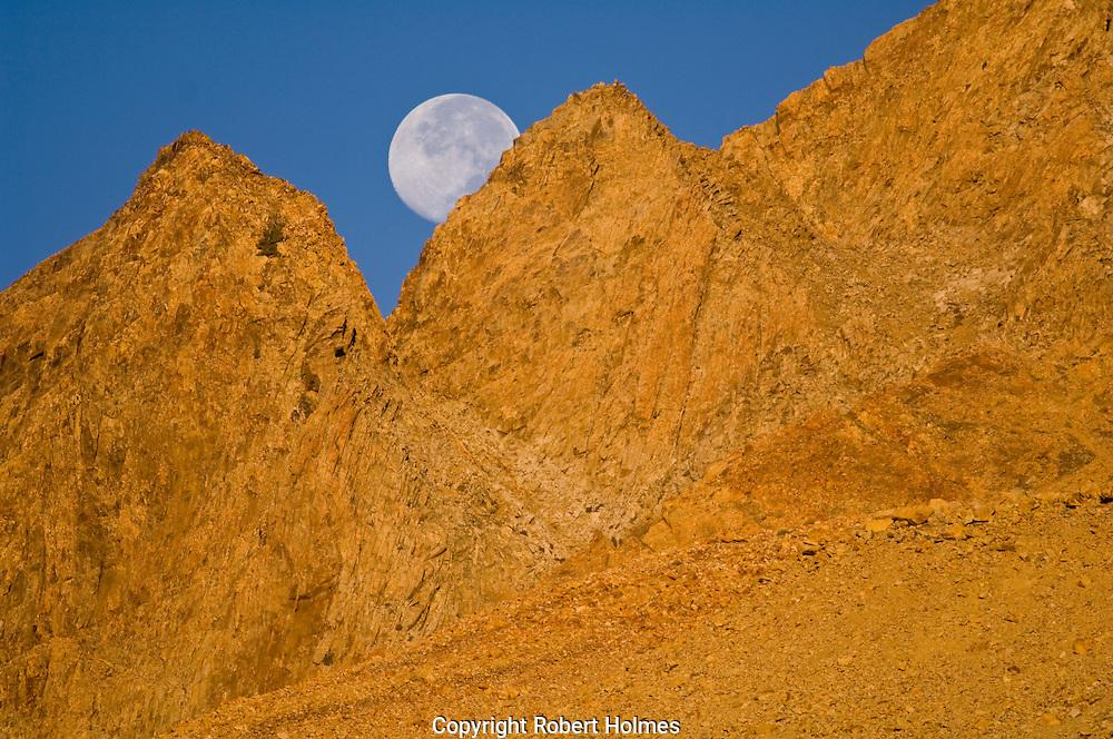 Moonrise over the East Sierra, California