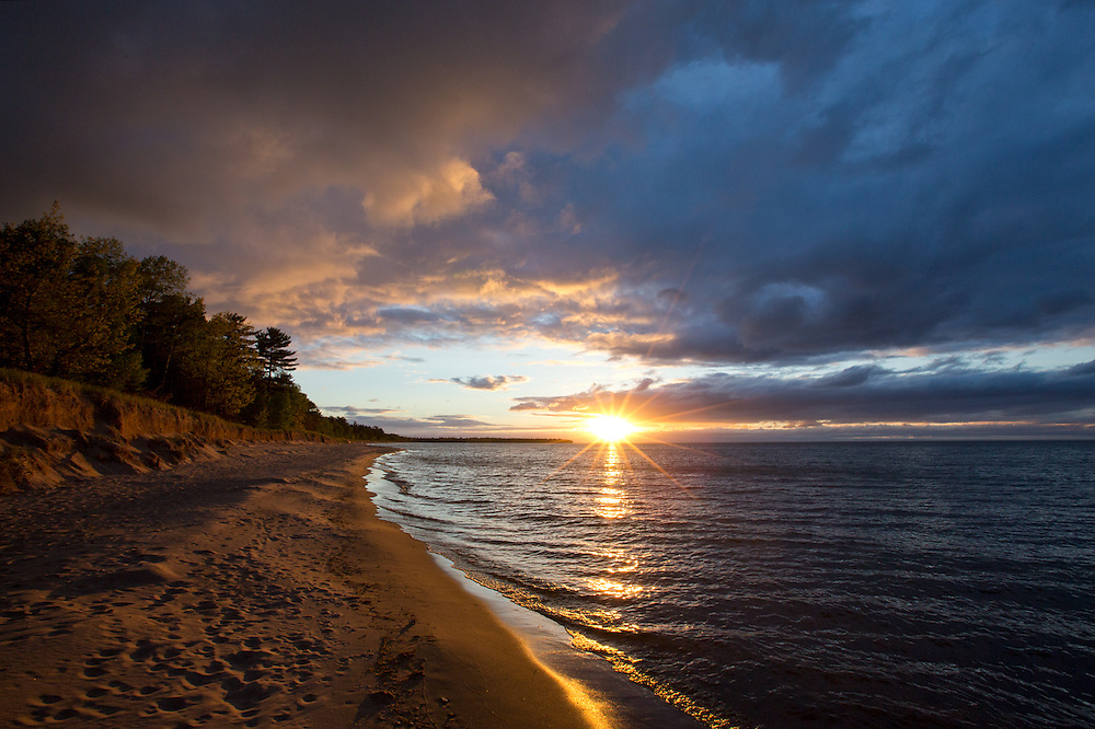 Lake Superior Spring Sunset