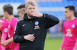 Peterborough United Caretaker Manager Grant McCann acknowledges the fans at full-time - Mandatory by-line: Joe Dent/JMP - 30/04/2016 - FOOTBALL - New Meadow - Shrewsbury, England - Shrewsbury Town v Peterborough United - Sky Bet League One