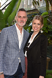 Jenny Packham and Matthew Anderson at The Ivy Chelsea Garden Summer Party, Kings Road, London, England. 14 May 2018.