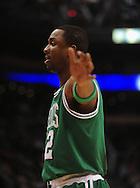 Jan. 28, 2011; Phoenix, AZ, USA; Boston Celtics guard Von Wafer (12) reacts on the court against the Phoenix Suns at the US Airways Center.  The Suns defeated the Celtics 88-71. Mandatory Credit: Jennifer Stewart-US PRESSWIRE