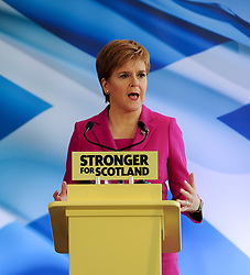 Pictured: SNP leader Nicola Sturgeon launches the campaign.<br /> <br /> The SNP launched their general election campaign at Dynamic Earth in Edinburgh.<br /> <br /> © Dave Johnston / EEm