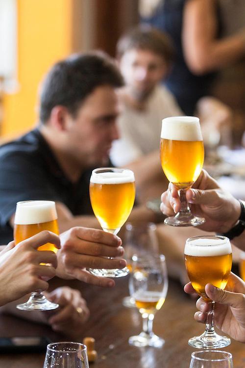 Belo Horizonte_MG, Brasil.<br /> <br /> Na foto, cenas do dia de degustacao de cerveja na cervejaria Wals.<br /> <br /> In the photo, beer tasting day scenes in Wals brewery.<br /> <br /> Foto: LEO DRUMOND / NITRO