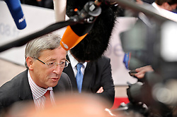 Jean-Claude Juncker, Luxembourg's prime minister, arrives for an informal summit of European heads of state at the EU Council building in Brussels, Belgium, Friday, Nov. 7, 2008. (Photo © Jock Fistick)