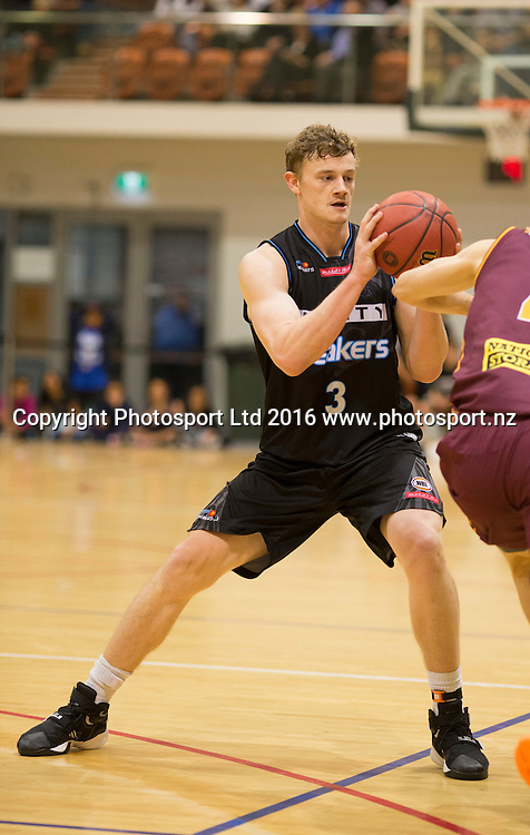 Breaker's Finn Delany in action. NBL Preseason basketball, NZ Breakers v Brisbane Bullets, PG Arena, Napier, New Zealand. Thursday 16 September, 2016. Copyright photo: John Cowpland / www.photosport.nz