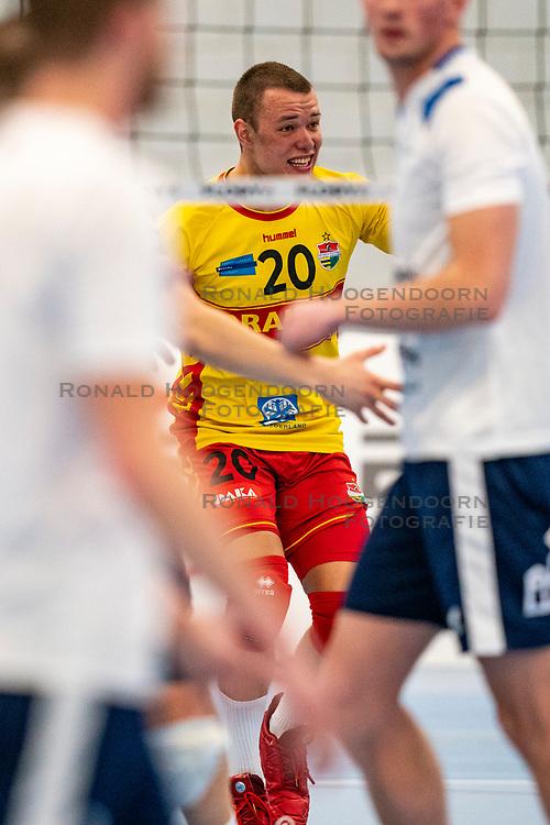 Jeffrey Klok #20 of Dynamo in action in the second round between Sliedrecht Sport and Draisma Dynamo on February 29, 2020 in sports hall de Basis, Sliedrecht