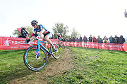 Belgium, November 1 2017:  Katie Compton (KFC Racing p/b Trek/Panache) during the 2017 edition of the Koppenbergcross elite women's race. Compton finished second in the race. Copyright 2017 Peter Horrell.