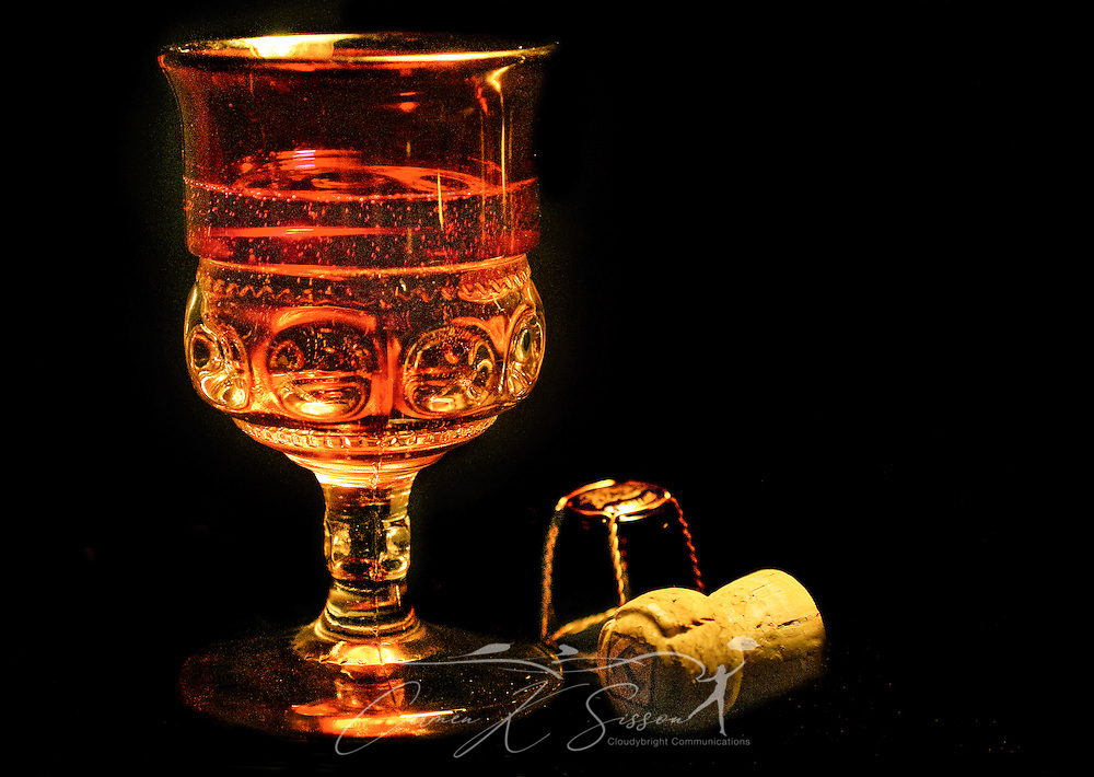 Champagne is served in a crystal goblet on New Year's Eve, Dec. 31, 2009. (Photo by Carmen K. Sisson/Cloudybright)