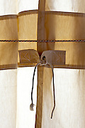 heavy duty canvas type curtain closed with robe