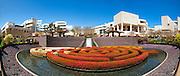 J. Paul Getty Museum; los angeles CA Santa Monica, Mountains, Panorama; unique; Flower, Garden, Architecture, Panaromic