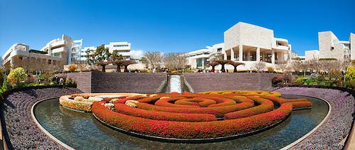 J. Paul Getty Museum; Los Angeles CA Santa Monica, Mountains, Panorama;
