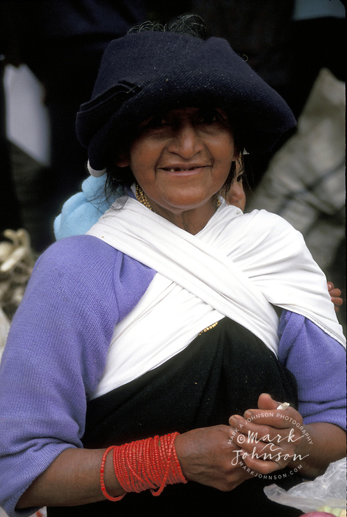 Woman in market, Otavalo, Ecuador, South America