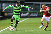 Forest Green Rovers Toni Gomes(25) runs forward during the EFL Sky Bet League 2 match between Forest Green Rovers and Swindon Town at the New Lawn, Forest Green, United Kingdom on 22 September 2017. Photo by Shane Healey.