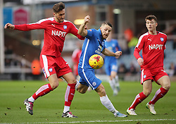Conor Washington of Peterborough United battles with Oliver Banks of Chesterfield - Mandatory byline: Joe Dent/JMP - 07966 386802 - 26/12/2015 - FOOTBALL - ABAX Stadium - Peterborough, England - Peterborough United v Chesterfield - Sky Bet League One