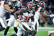 NEW ORLEANS, LA - SEPTEMBER 9:  Shaun Wilson #38 of the Tampa Bay Buccaneers runs the ball during a game against the New Orleans Saints at Mercedes-Benz Superdome on September 9, 2018 in New Orleans, Louisiana.  The Buccaneers defeated the Saints 48-40.  (Photo by Wesley Hitt/Getty Images) *** Local Caption *** Shaun Wilson