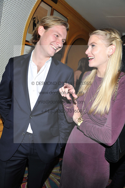 SAM SANGSTER and ALICE FARQUHAR at a party to celebrate the publication of Tatler Magazine's Little Black Book 2012 held at Annabel's, Berkeley Square, London on 7th November 2012.