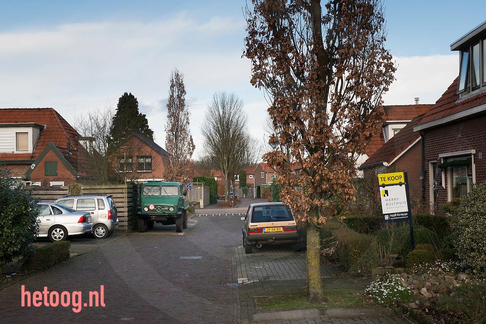 Nederland, Nijverdal 13 jan 2016 straatbeeld van de Rodewijk , voormalige arbeiderswijk in Nijverdal -  foto's bij artilel Jeroen Bos/  FD m.b.t. het bod van €26,-/aandeel door Gilde op de aandelen Koninklijke ten Cate. foto: Cees Elzenga