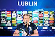 SWIDNIK, POLEN 2017-06-21<br /> H&aring;kan Ericson under svenska U21 landslagets MD-1 presskonferens p&aring; Stadion Miejski, den 21 juni i Swidnik, Polen.<br /> Foto: Nils Petter Nilsson/Ombrello<br /> Fri anv&auml;ndning f&ouml;r kunder som k&ouml;pt U21-paketet.<br /> Annars Betalbild.<br /> ***BETALBILD***